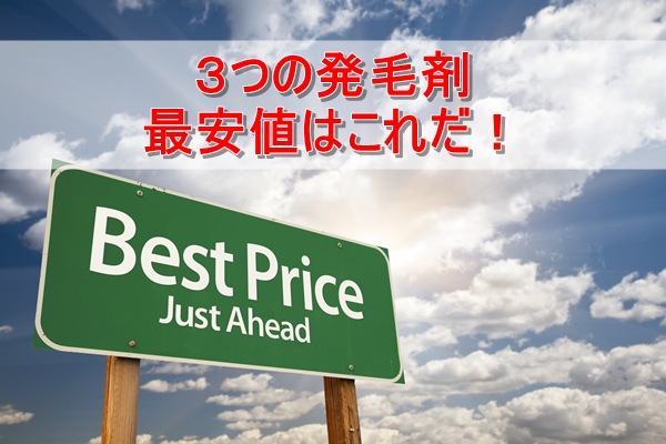 一番安いのはどれ?