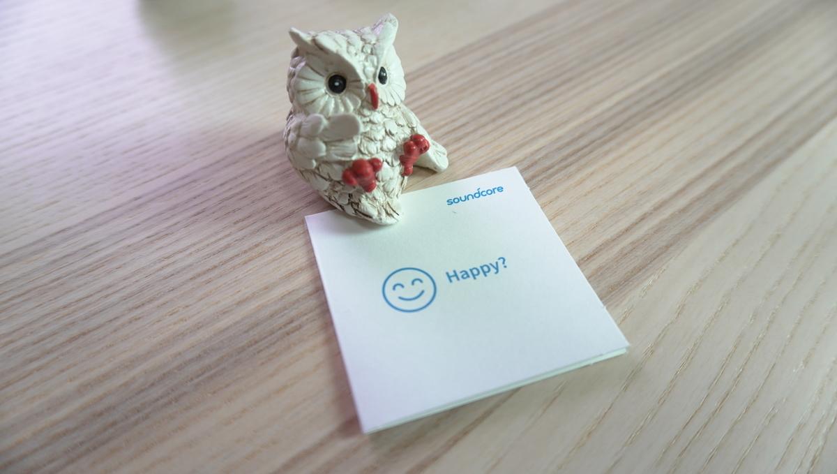 Anker内容物のサポートカード Happy?