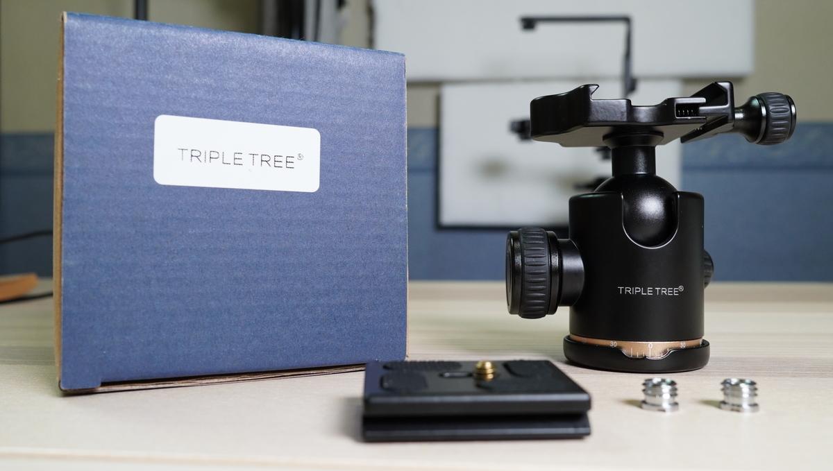 TRIPLE TREE 自由雲台 クイックシュー付き 360度回転可能 アルミ製