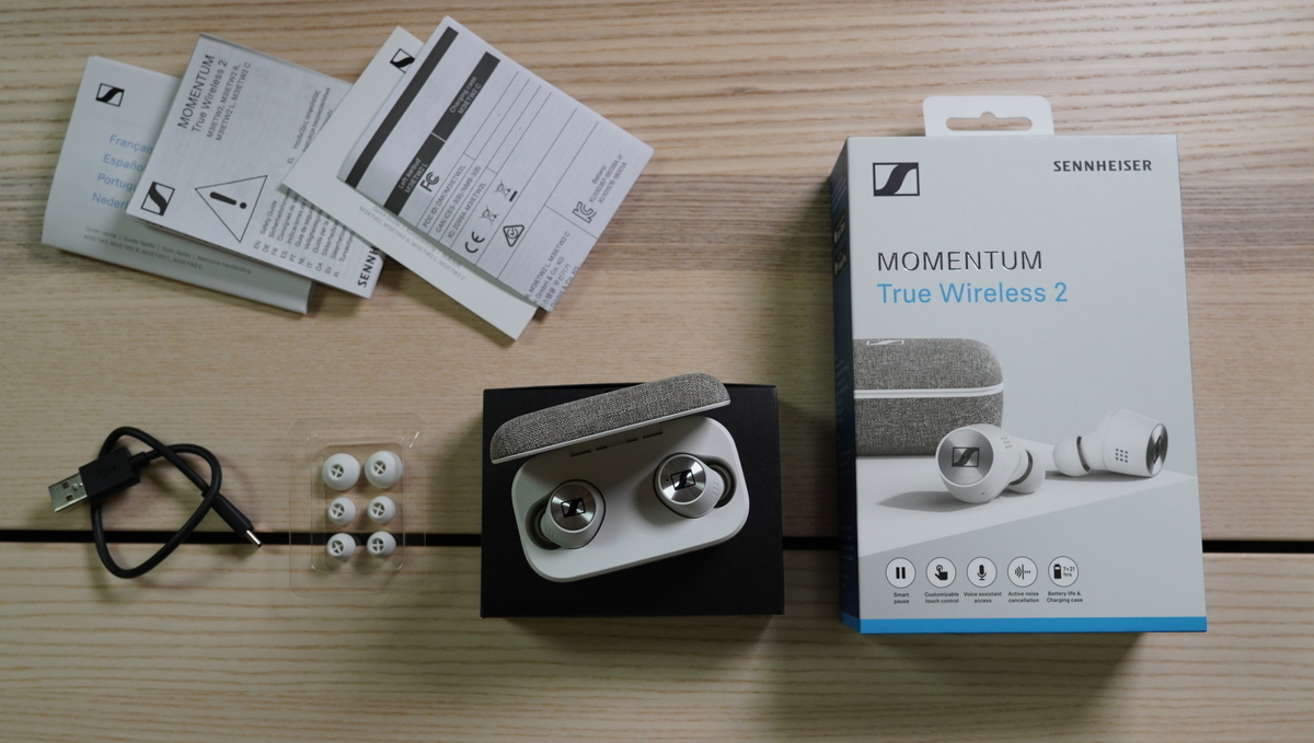 SENNHEISER MOMENTUM True Wireless 2 同梱物