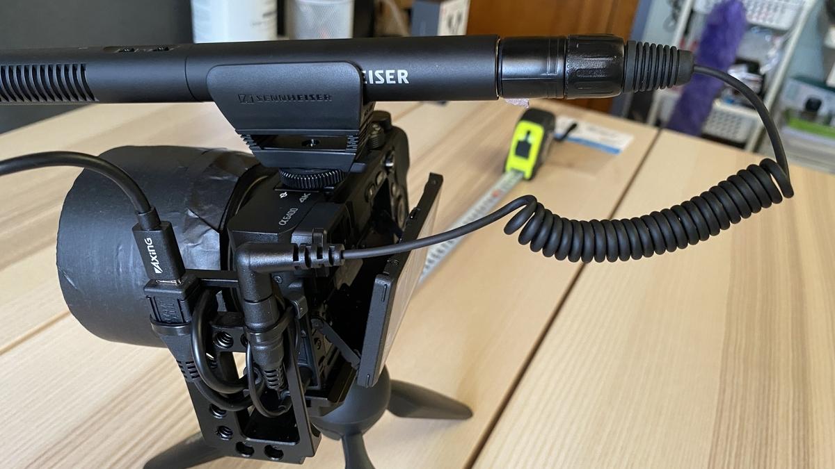 ミラーレスカメラにMKE600装着
