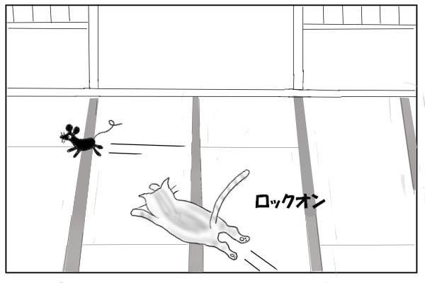 ねずみを追いかける猫