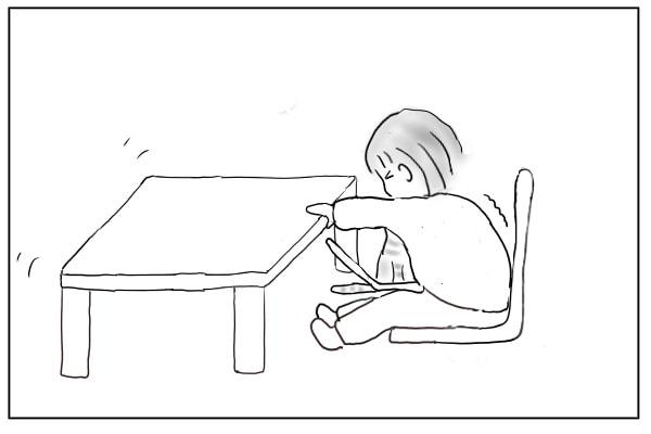 椅子を引き寄せる