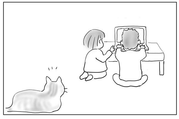 気に入らない猫