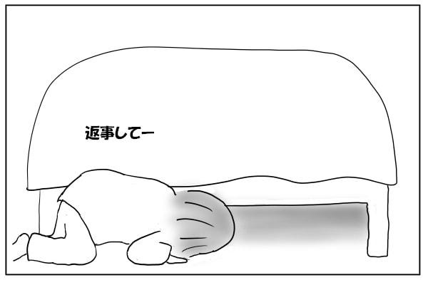ベッドの下を覗く