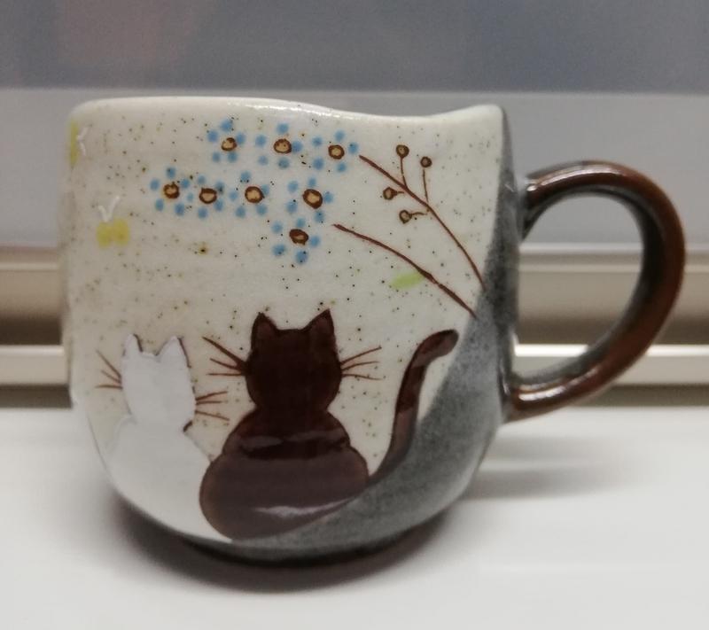 猫の絵のマグカップ