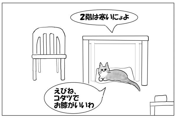 ホットカーペットに乗る猫