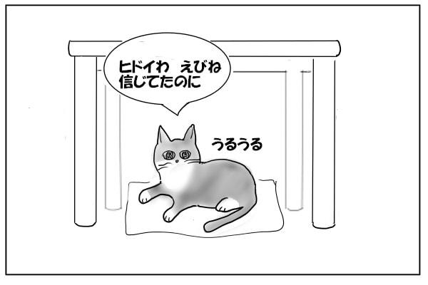 失望している猫