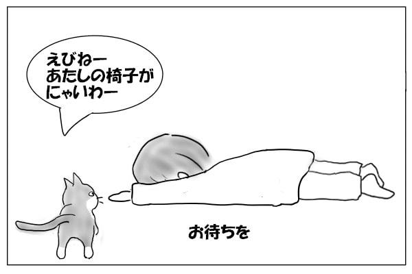膝をせがむ猫
