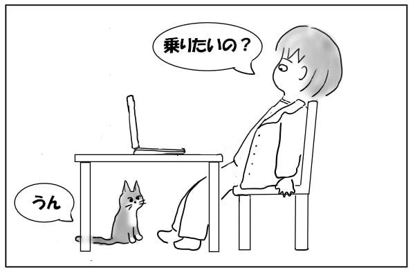 膝に乗せてほしい猫