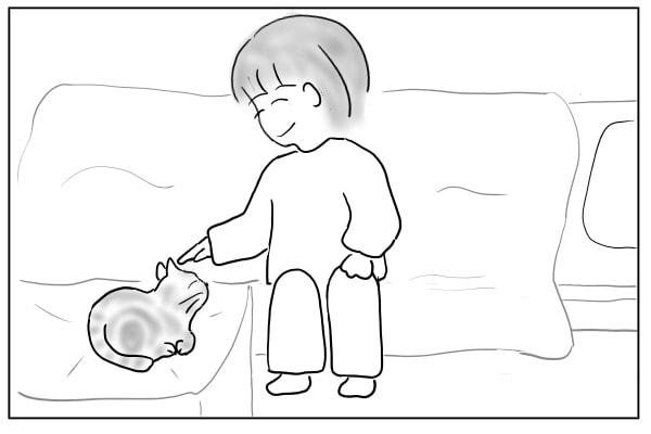 猫を寝かしつける