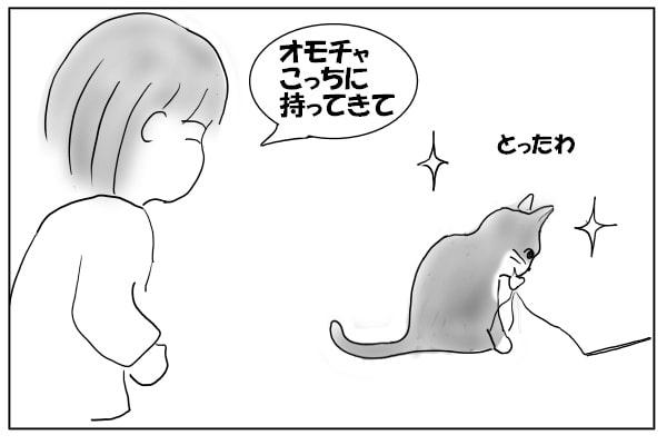 捕まえた猫