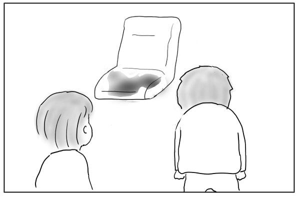 水びたしの椅子