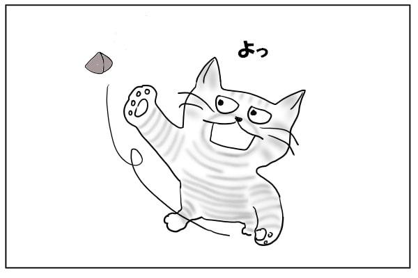 キャットニップで遊ぶ猫