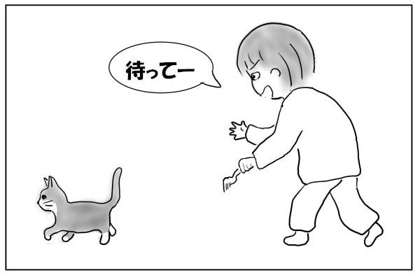 じっとしてない猫