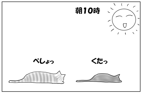 おねむモードの猫
