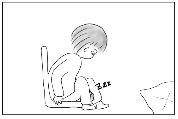 椅子から立ち上げる人