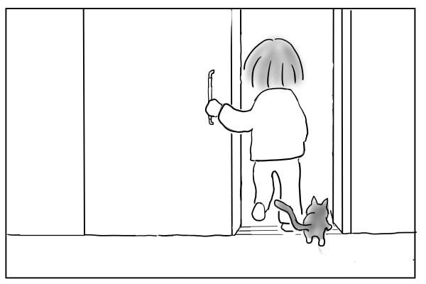一緒に入る猫