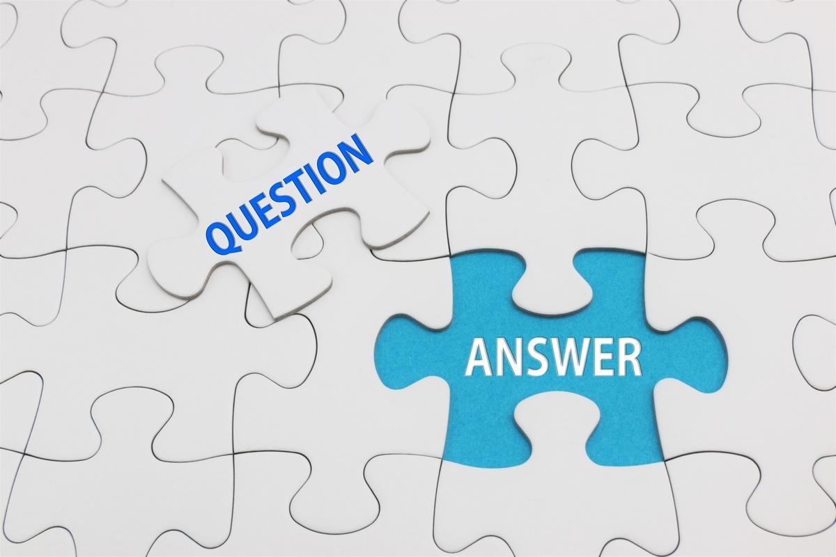 QUESTIONとANSWERのパズル
