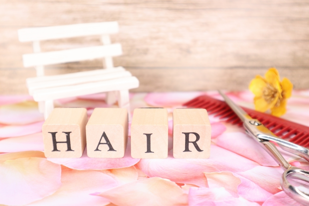 HAIRの文字