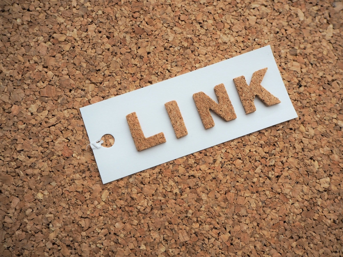 LINKのコルク文字