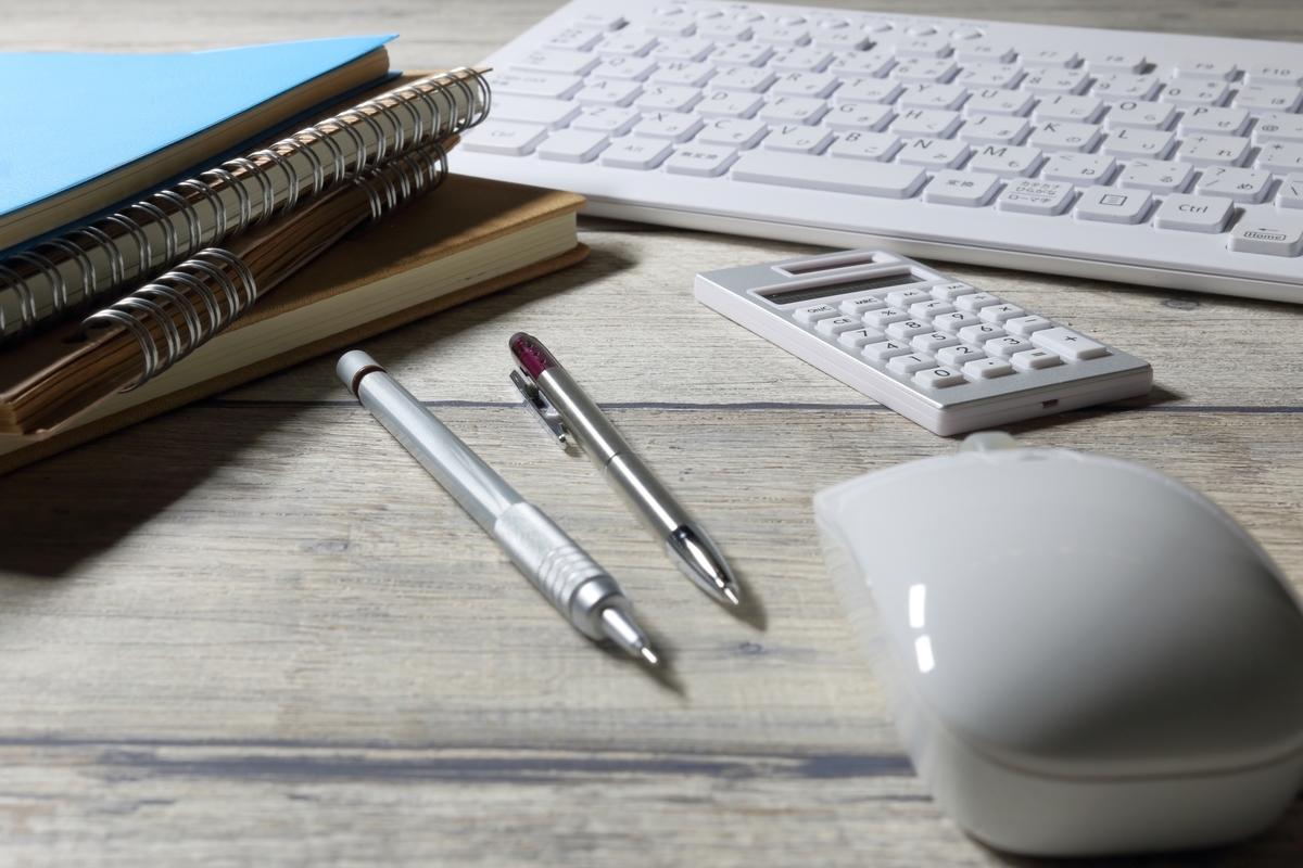 キーボードとマウスとペン