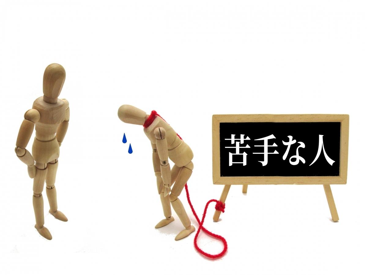 人形と苦手な人の看板