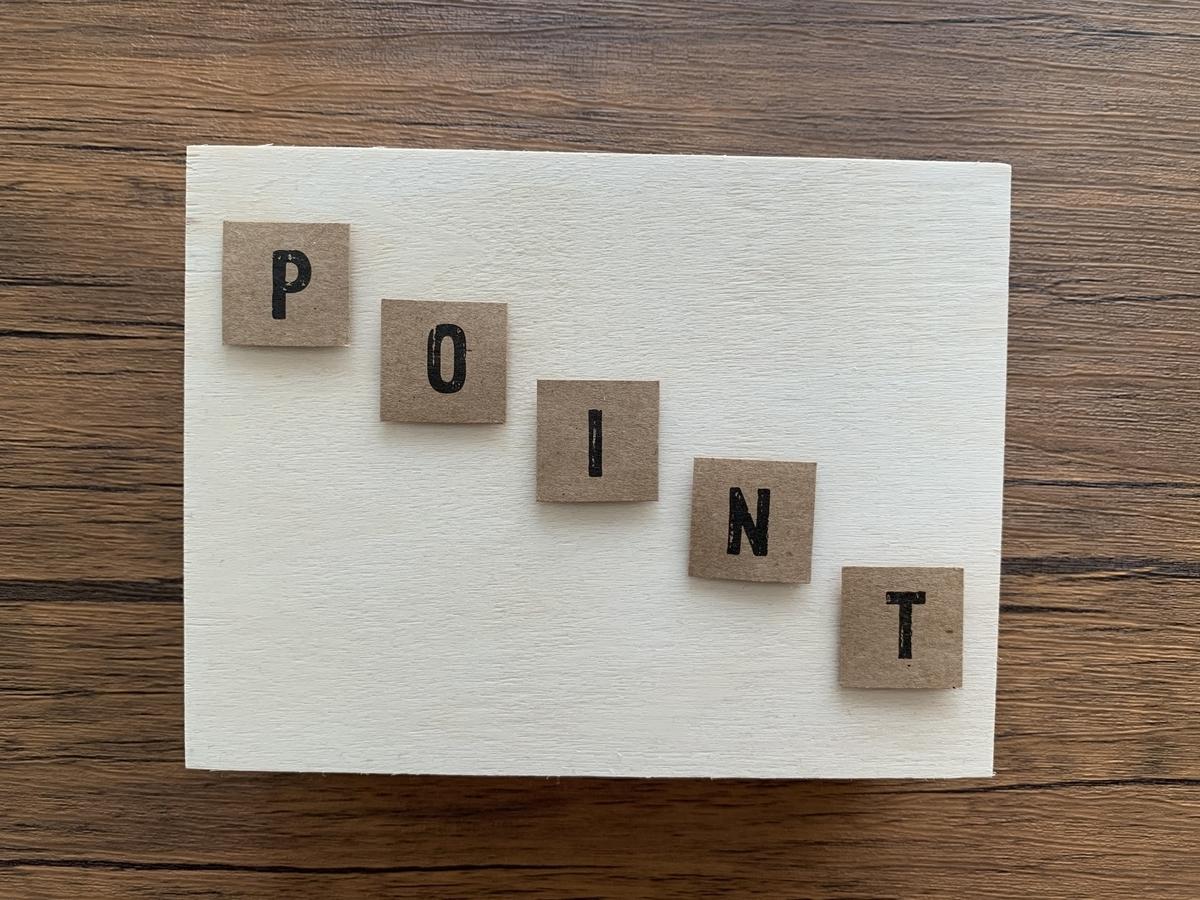 POINTの斜め文字
