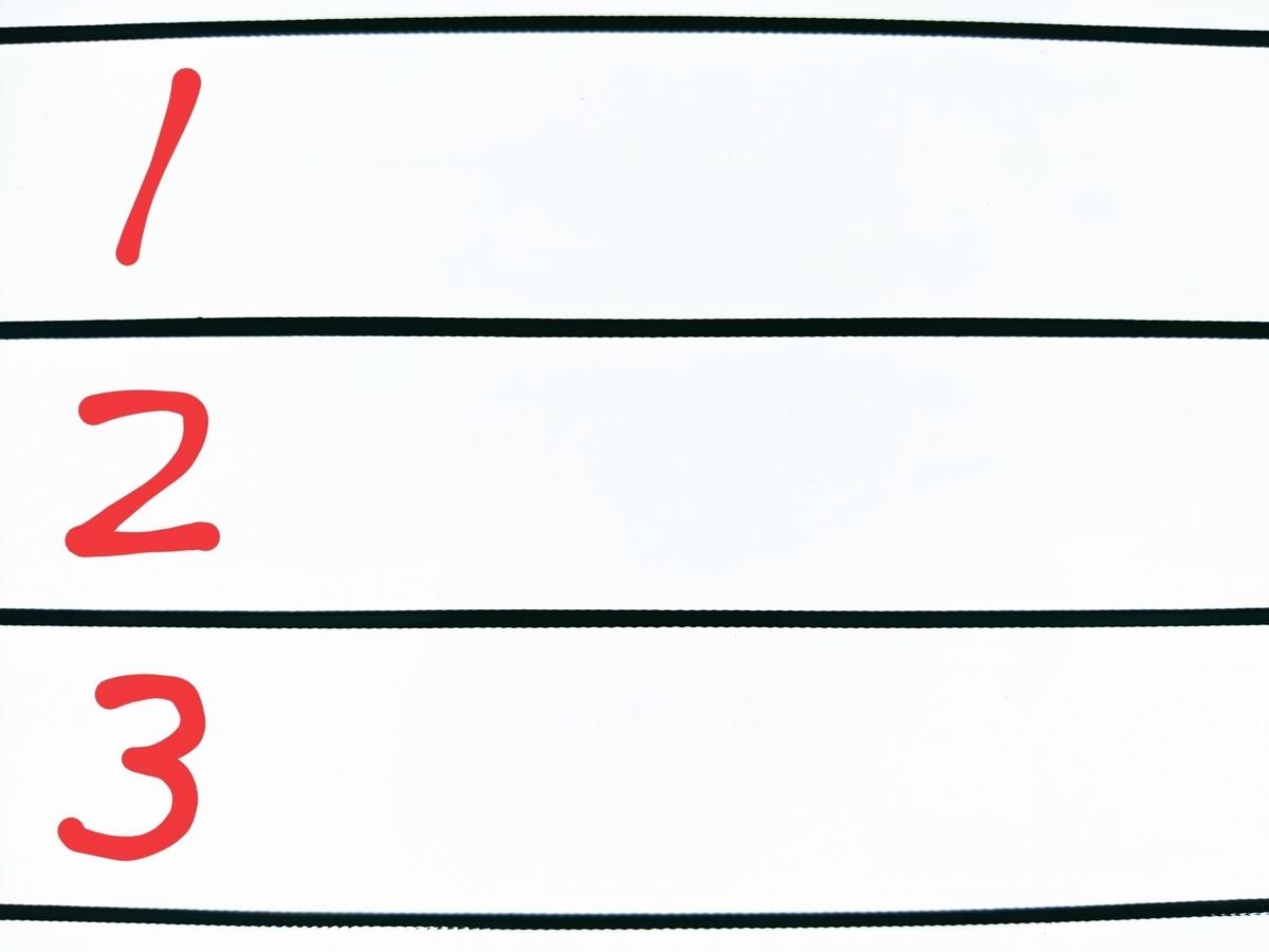 ホワイトボードに数字