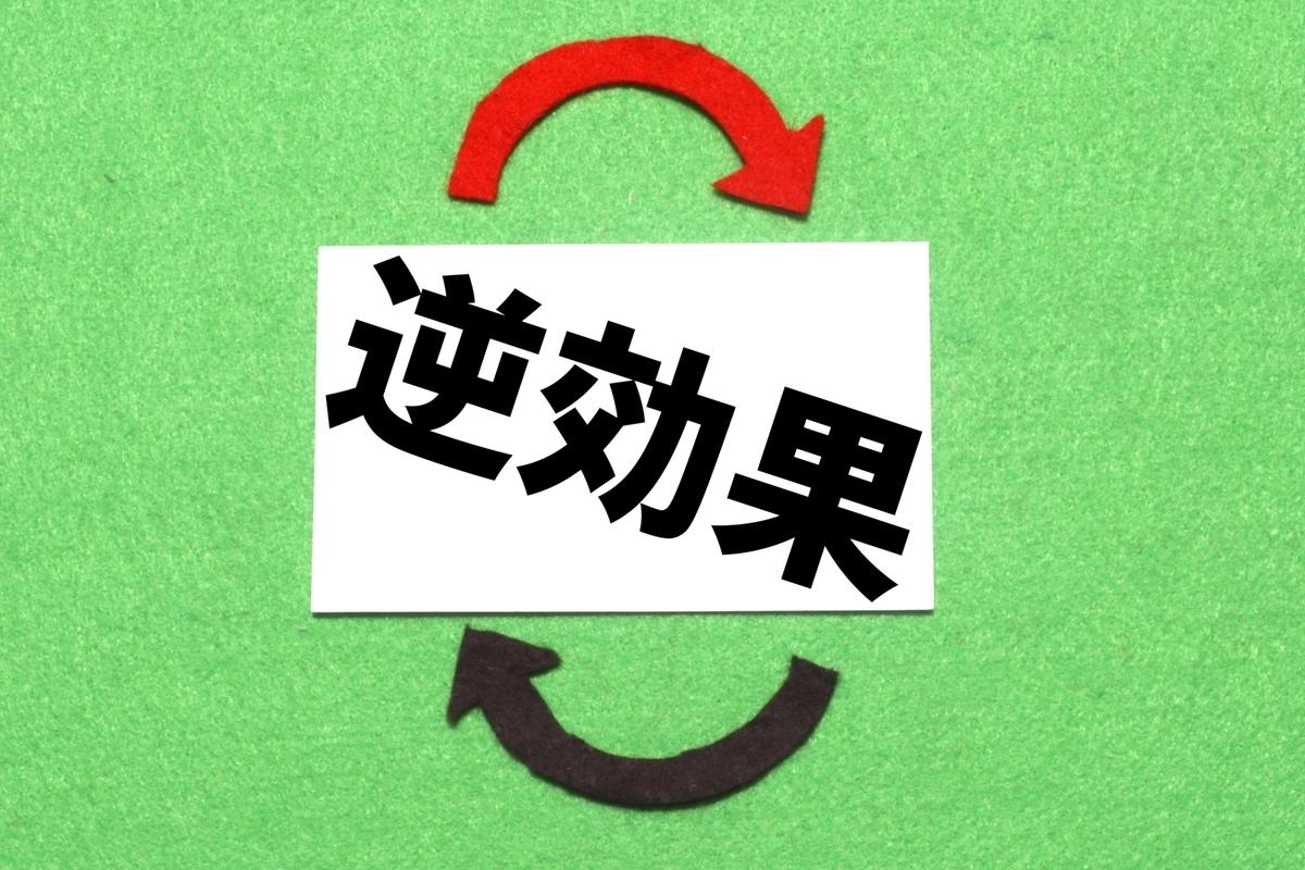 逆効果の文字