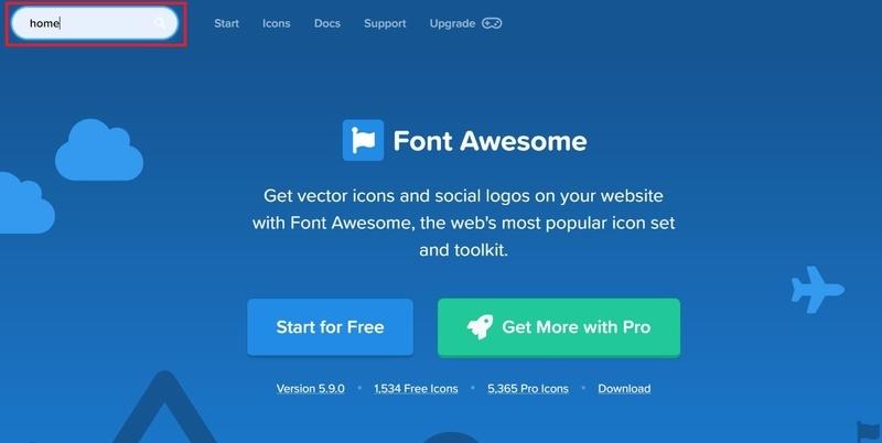 Font Awesomeでアイコン検索