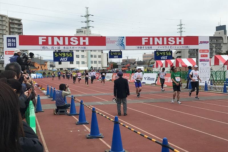 かすみがうらマラソンFINISHゲート