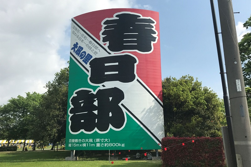 庄和総合公園の大凧看板
