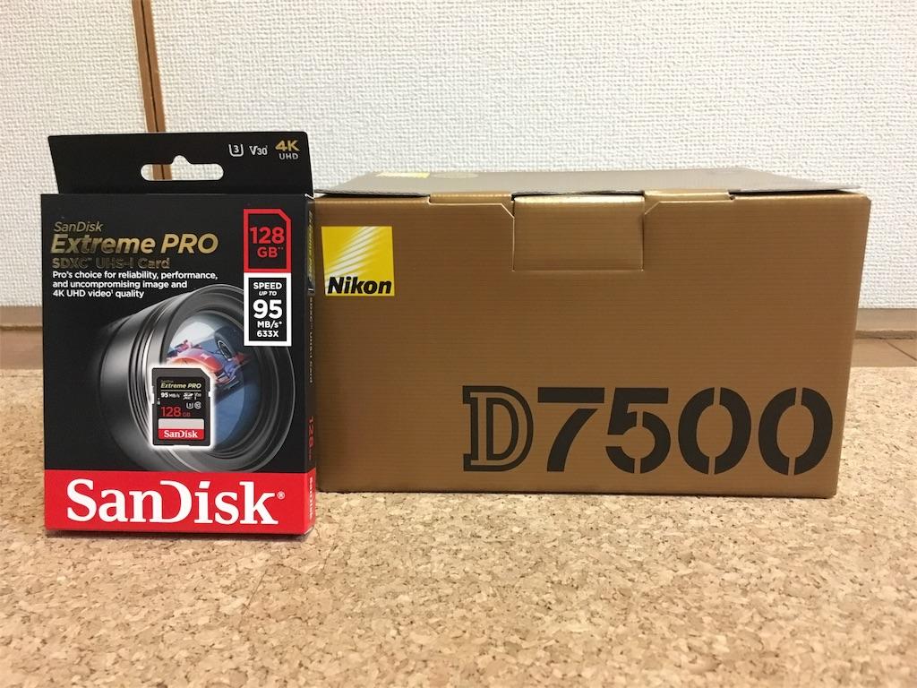 ニコンD7500の外箱
