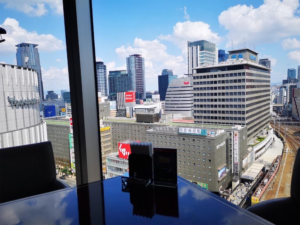 叙々苑ルクア大阪店から見た景色