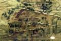 古い絵地図の西楽院付近