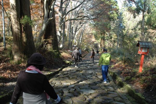 大神山神社石畳の参道