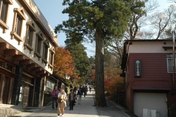 大山寺参道の様子