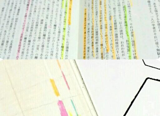 6色蛍光ペンの使い方図