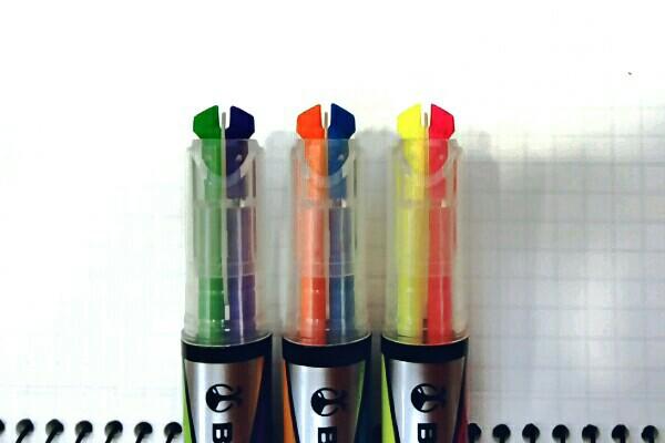 コクヨ 2色蛍光マーカー ビートルティップ・デュアルカラー2