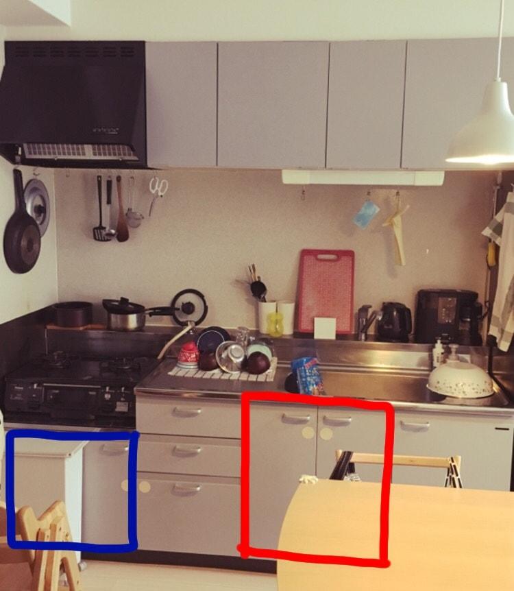 賃貸のキッチンはこんな感じ
