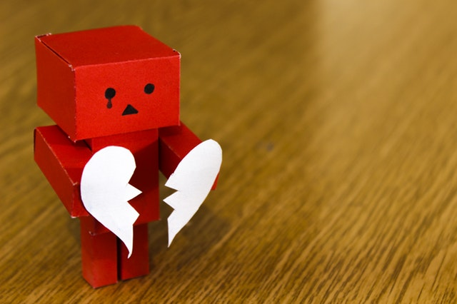 Photo of heartbroken robot