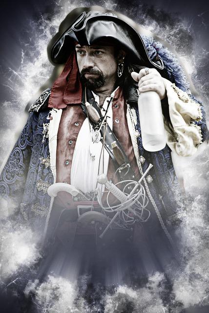 違法ダウンロード(海賊版)と海賊をかけた画像