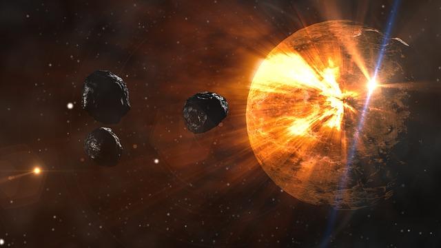 隕石によって豹変する惑星のイメージ画像
