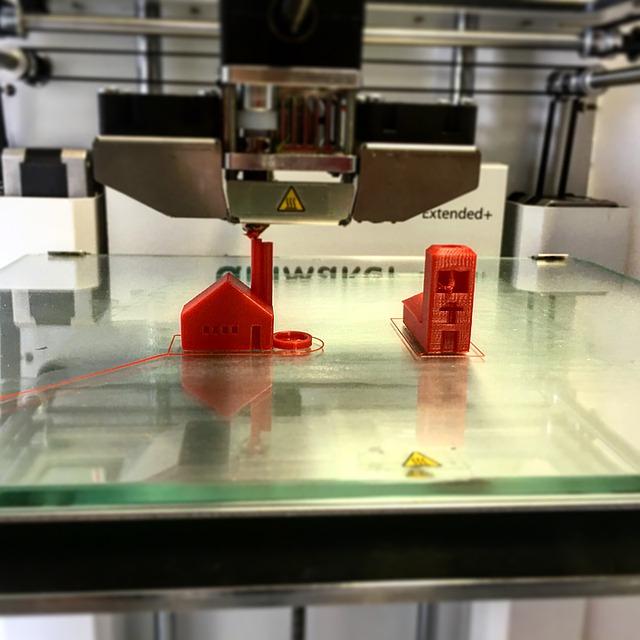 3Dプリンターの画像。