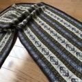 フェアアイル編みのショール
