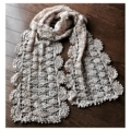 手紡ぎ糸 かぎ針編みのマフラー