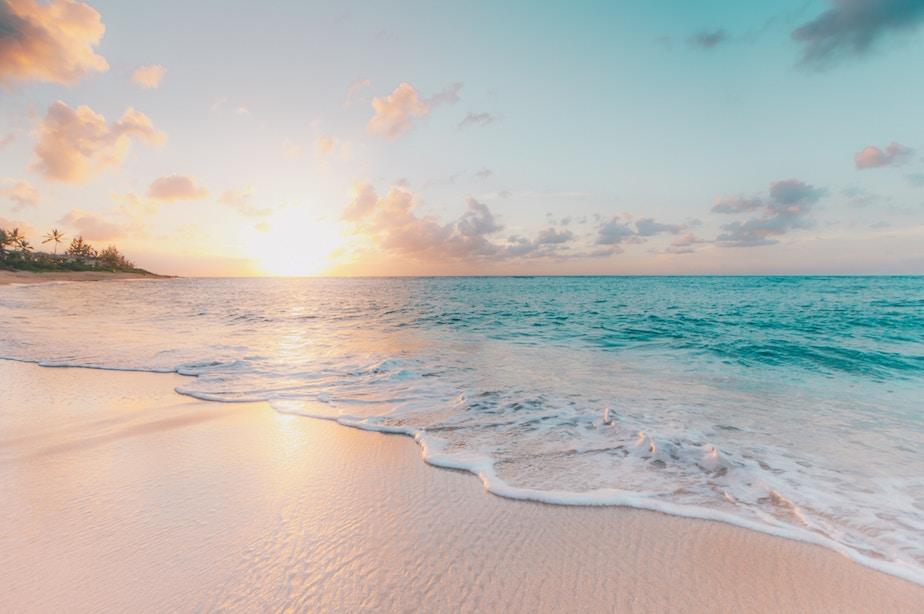 美しいプライベートビーチ