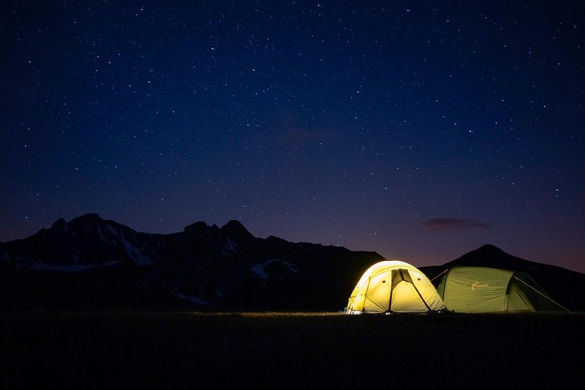 初キャンプ。