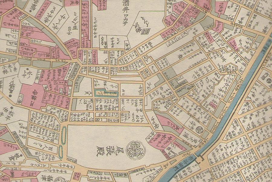 江戸の地図・市谷付近